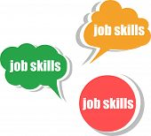 Job Skills. Set Of Stickers, Labels, Tags. Template For Infographics
