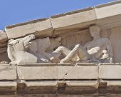 Athens Greece, Parthenon west pediment detail