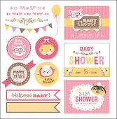 stock photo of baby sheep  - Baby Arrival and Shower Collection - JPG