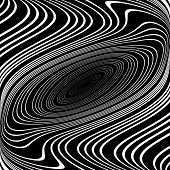 Design Monochrome Whirl Ellipse Movement Background