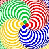 pic of distortion  - Design colorful swirl circular movement illusion background - JPG