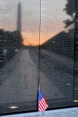 WASHINGTON DC - JULY 06: The Vietnam Veterans Memorial on July 06, 2014 in Washington DC, USA. It ho