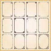 Decorative Frames And Borders Set Vector