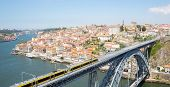 Dom Luiz bridge in Porto Cityscape Portugal