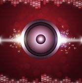 Red Sound Speakerl Music Background