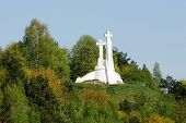 The Hill Of Three Crosses In Vilnius Seen From Gediminas Hill.