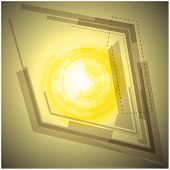 Abstract yellow background with  light