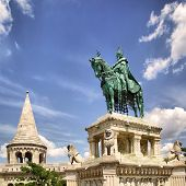 Fishermen's bastion and statue of St. Stephen in Budapest, Hungary