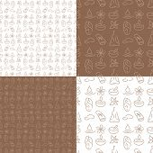Seamless beauty pattern, wellness. Skin care, massage, health background, tile.