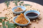 pic of traditional  - group shot of Japaneese traditional soybean processed foods Natto - JPG