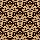 Light brown floral seamless pattern