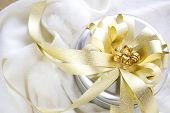 Silver And Golden Gift Box