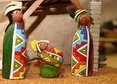 Nativity Scene With Holy Family In South American Style