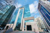 Baku - MARCH 1, 2014: International Bank of Azerbaijan office on March 1 in Azerbaijan, Baku. IBA is the leading bank in Azerbaijan