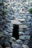 Sardinia. Nuraghe interior