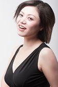 Belleza asiática sonriente