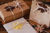 Colorful Crochet Snowflakes For Christmas Decoration Of Bow, Greetings Card And Package