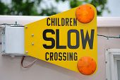 stock photo of ice-cream truck  - A mechanical traffic sign on a truck - JPG