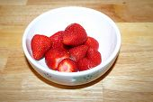 Bolw of fresh strawberries