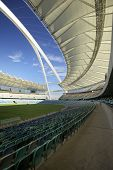 Moses Mabhida Stadium, Fifa Football. Seating Area And Covered By The Sails Roofing