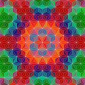 Vector Triangle Mosaic Background