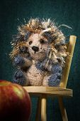 foto of crew cut  - Artistic compositions with knitted animals - JPG