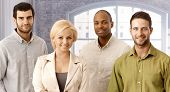 pic of work crew  - Closeup portrait of confident young businesspeople - JPG