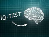 Iq Test  Brain Background Knowledge Science Blackboard Turquoise