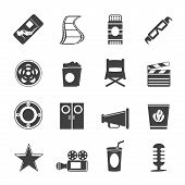Silhouette Simple Cinema and Movie Icons