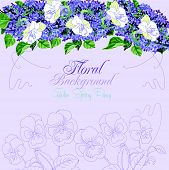 19_background With Pansies And Lilac