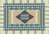 Tribal print,border pattern
