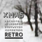 Retro marquee font