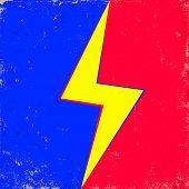 lightning on old background