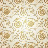 Decorative seamless gold pattern in ottoman motif