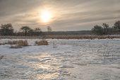 Frozen Meadow Sunrise