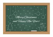 Christmas Design On Chalkboard
