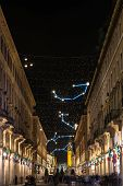 Roma Street and the Planetarium Art Light, Turin