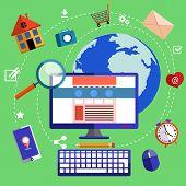 Web design and development concept