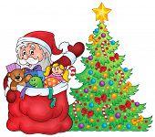 Santa Claus topic image 2 - eps10 vector illustration.