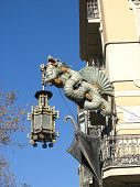 Chinese Dragon In The Ramblas, Barcelona