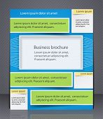 Layout Business Brochure, Magazine Cover, Or Corporate Design Template Advertisment