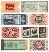 stock photo of receipt  - Retro Tickets and Coupons collection - JPG
