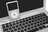 Ipod Classic 160 Gb On Silver Metal Laptop