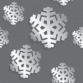 Decorative abstract snowflake. Seamless
