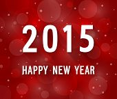 Happy New Year 2015 Creative Paper Greeting Card.