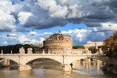Castel Sant'angelo Under A Cloudy Sky