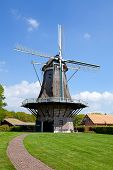 Dutch Windmill Near Village Appel