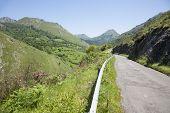 Rural Road Through Mountains
