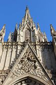 Top of gothic cathedral in Barcelona