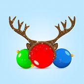 Christmas Balls With Antler
